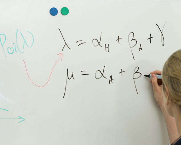 workings on whiteboard